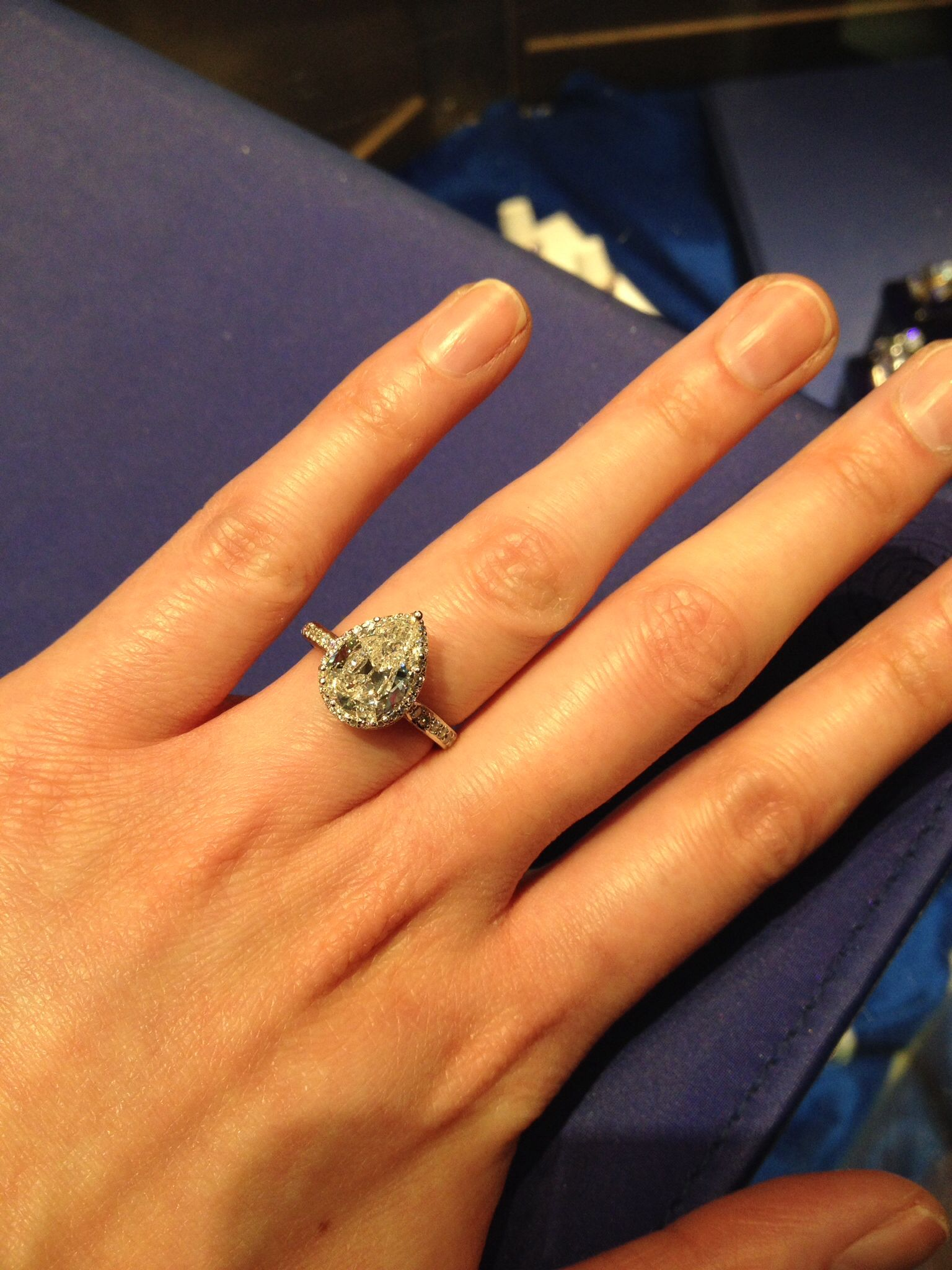 swoon Tried on this beautiful Tacori engagement ring today