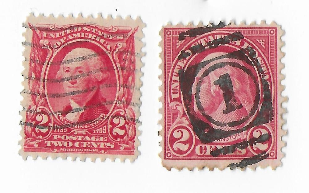 OLD GEORGE WASHINGTON STAMPS 2 CENT RED