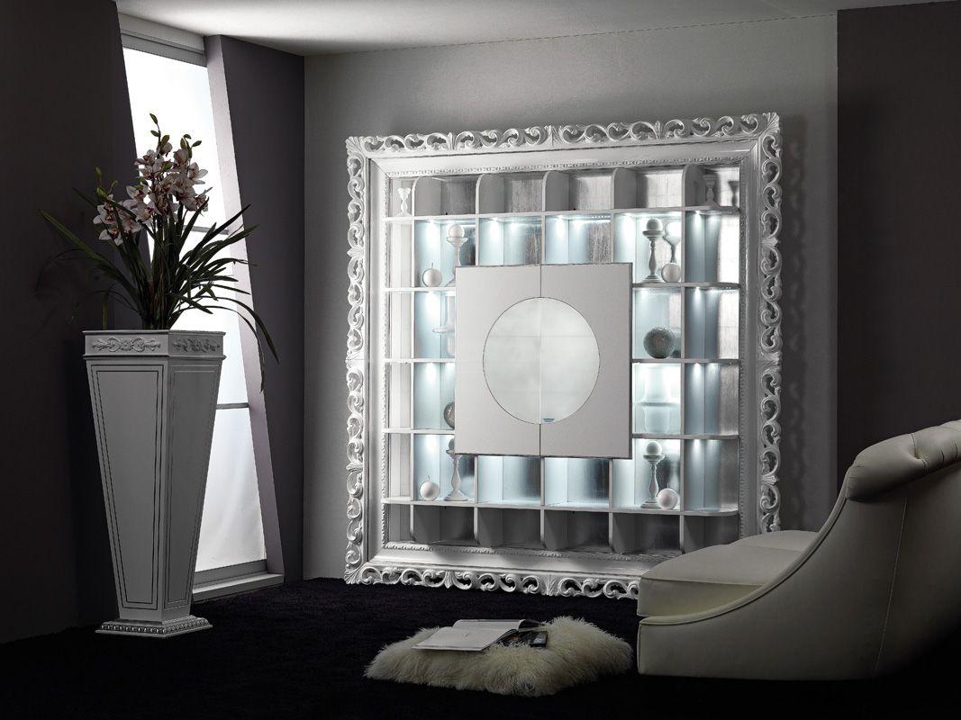 Mobili Argento ~ Mobile bar barocco bianco lucido tavolino contenitore barocco