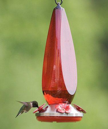 Ruby Prism Hummingbird Feeder Humming Bird Feeders Steel Flowers Feeder