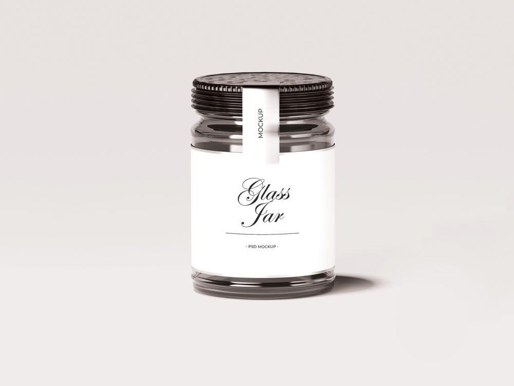 Glass Jar Mockup PSD Mockup For Graphic Designers