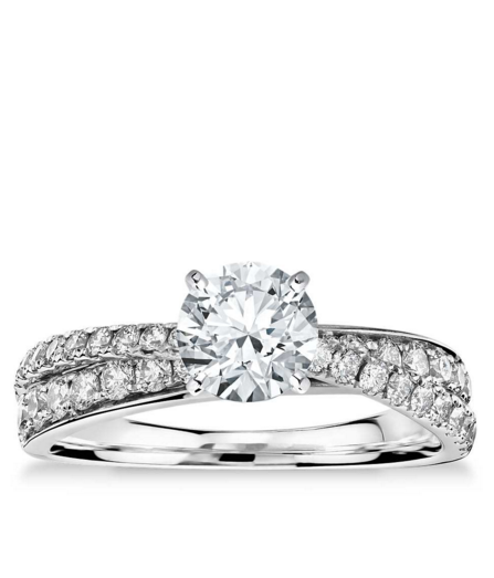 a2bc1f8b09ccc Monique Lhuillier Timeless Twist Diamond Engagement Ring in Platinum ...