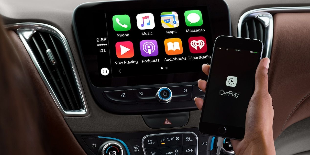 2018 Chevrolet Malibu Mid Size Car Technology Apple