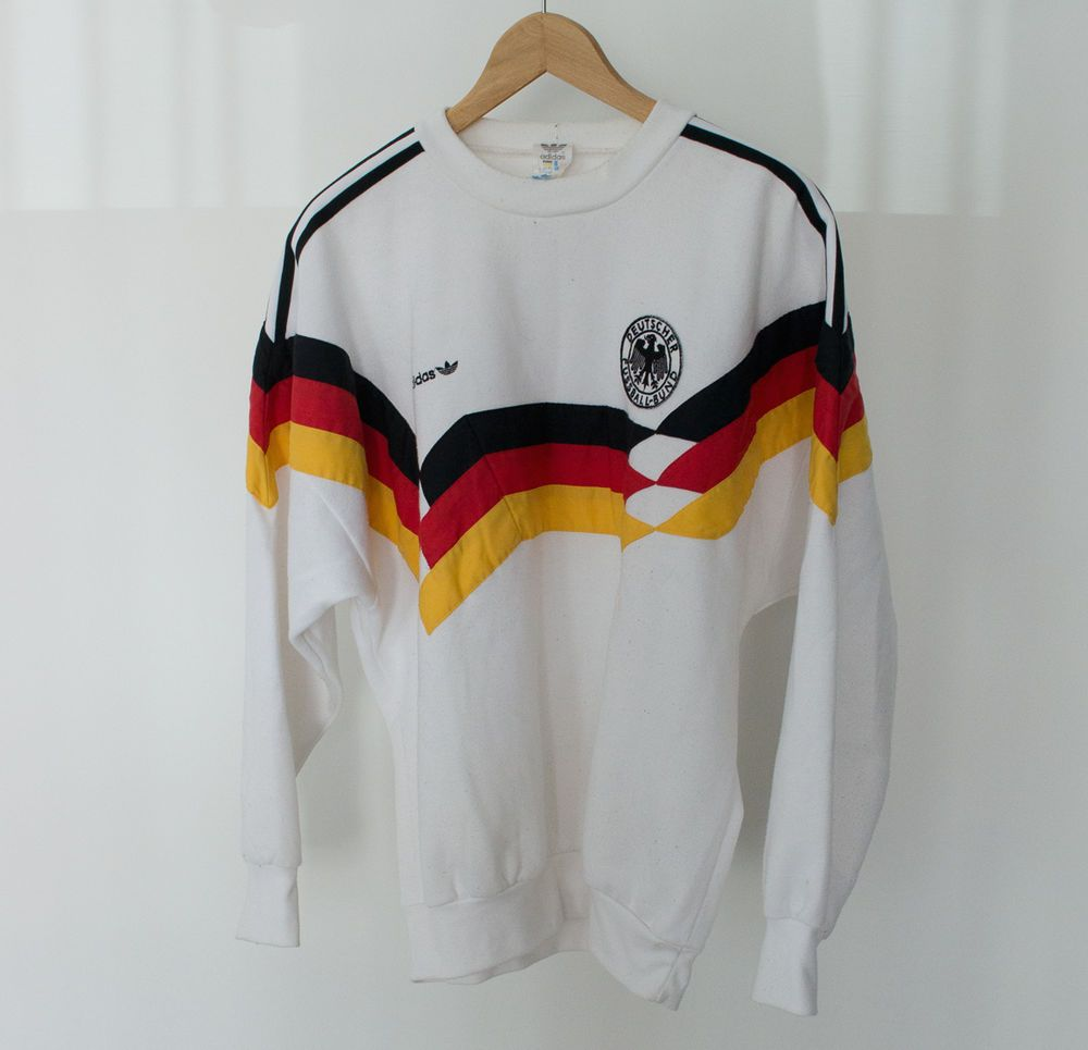 b50ec6072fba1 VINTAGE ADIDAS 90 S GERMANY INTERNATIONAL FOOTBALL SWEATSHIRT JUMPER ...