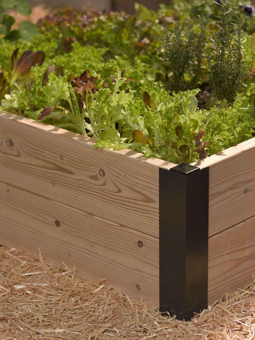 Aluminum Corner Brackets For Diy Raised Garden Beds Gardeners Com Raised Garden Beds Diy Diy Raised Garden Raised Bed Corners