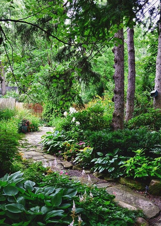 30 Inspirations Love The Blending Of Garden Into Forest Walkway Landscaping Beautiful Backyards Backyard Garden Layout