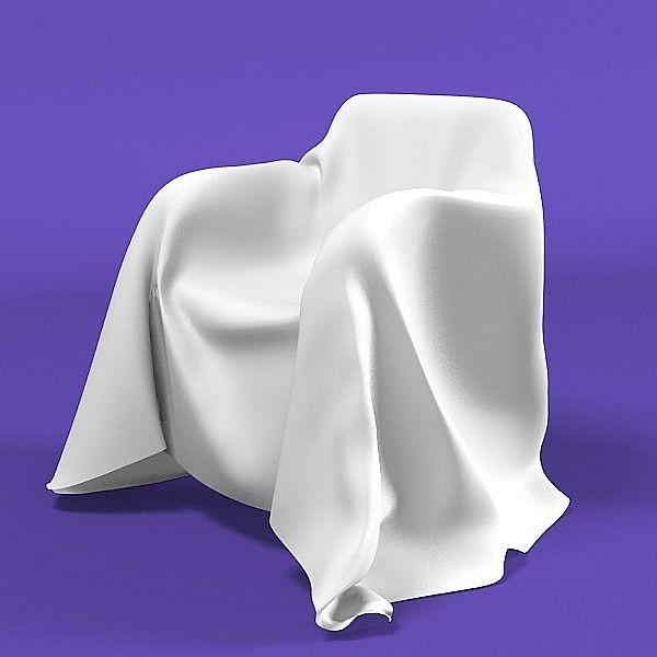 Armchair chair modern 3d model furniture pinterest for Modern armchair covers