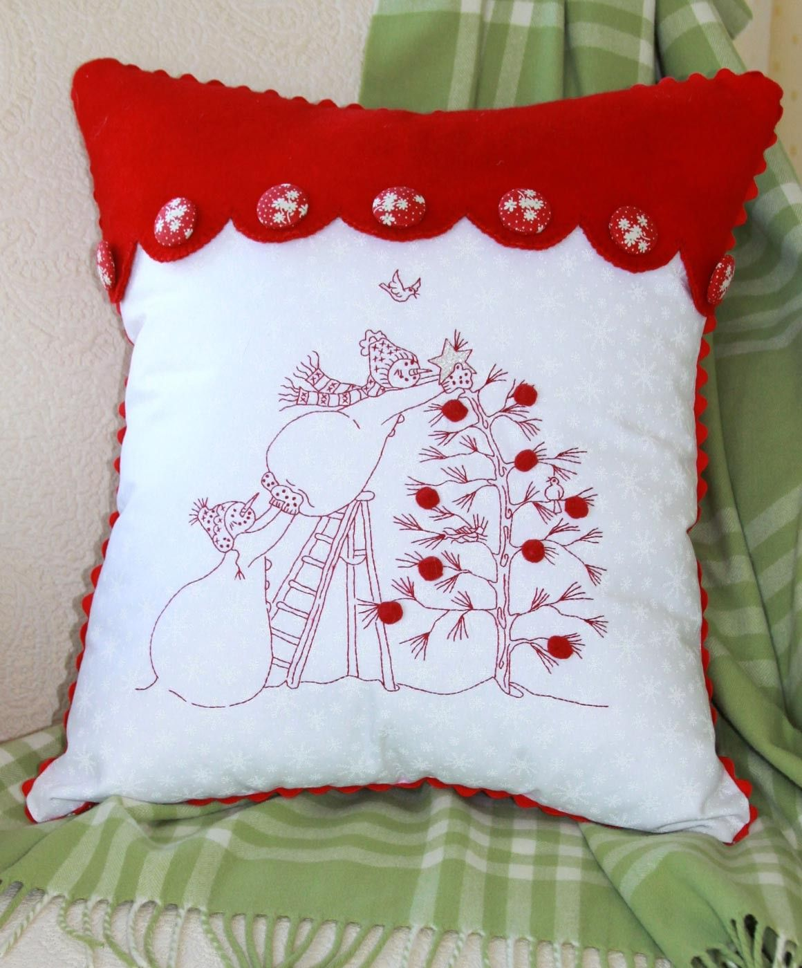 Hand embroidery pattern trim the tree crabapple hill studio