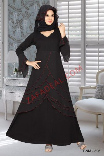 Buy Designer Abaya Jilabab Khaleeji Style Snm 326 Maxi Styles Womens Dresses Abaya Fashion