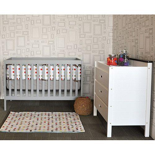 Baby Mod - Modena 3-in-1 Fixed Side Crib, Cool Grey  Quiero cunas gris, y esta es la mas barata que he visto
