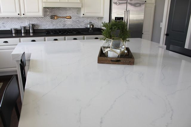 Tranquility Quartz By Hanstone With 3 Mitered Edge Hanstone Quartz Kitchendesign Home Countertops Quartz Countertops