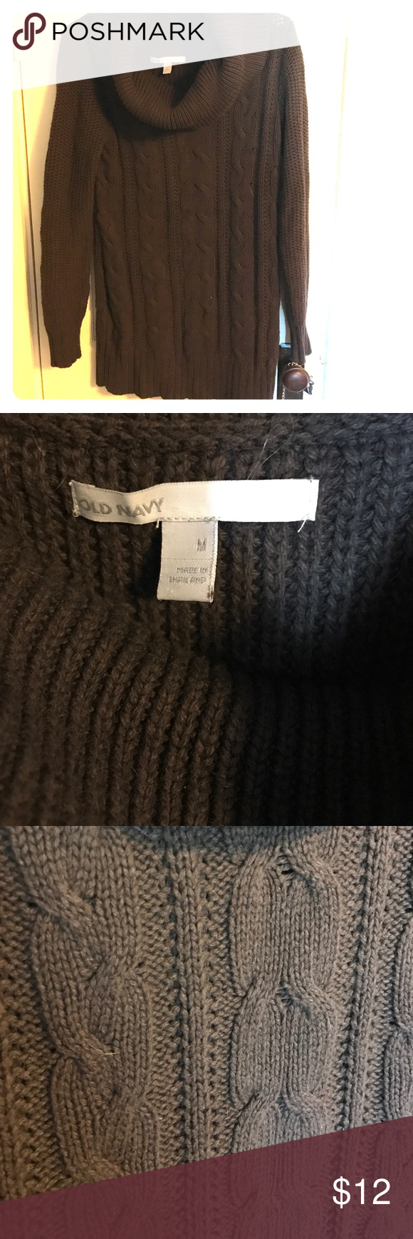 Old navy cowl neck cable knit sweater | Cable knit sweaters, Cowl ...
