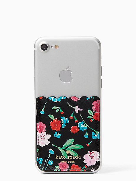 official photos b3891 0dc2f Kate Spade Greenhouse Sticker Pocket, Black | Products | Kate spade ...
