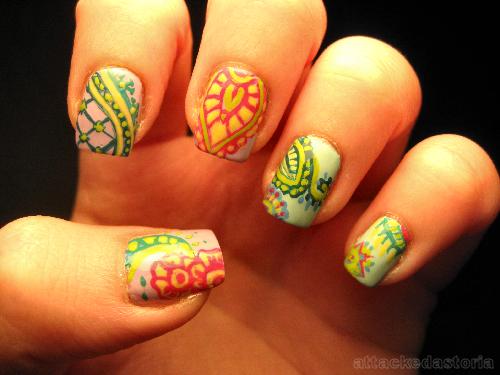 Henna Mehndi Nail Art : Henna nails mehndi nail and