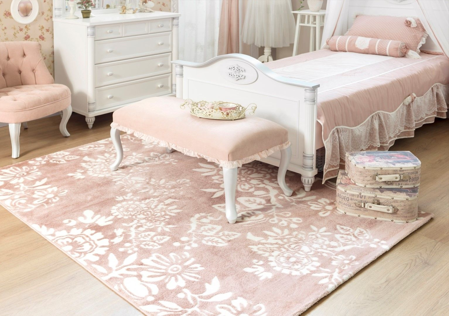 Licht Roze Vloerkleed Dream Tapijt Vloerkleed Romantic Kinderkamer Bed Kinderbed