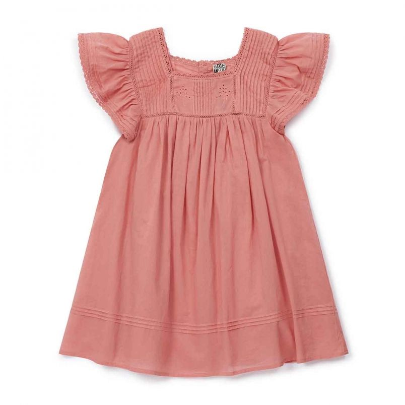 d7a747714763e Robe romarin brodée rose toucan - robes