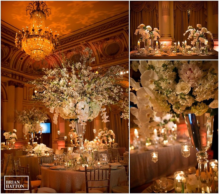 Jay Tony S Wedding At The Plaza Hotel Their Was Very First New York City Iconic Centerpiece