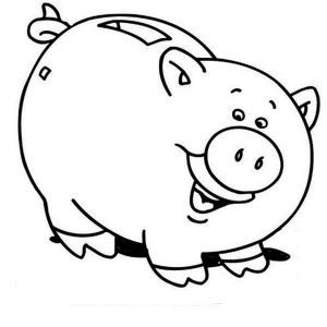 Piggy Bank Coloring Page 13 Jpg 300 300 Pixels Coloring Pages