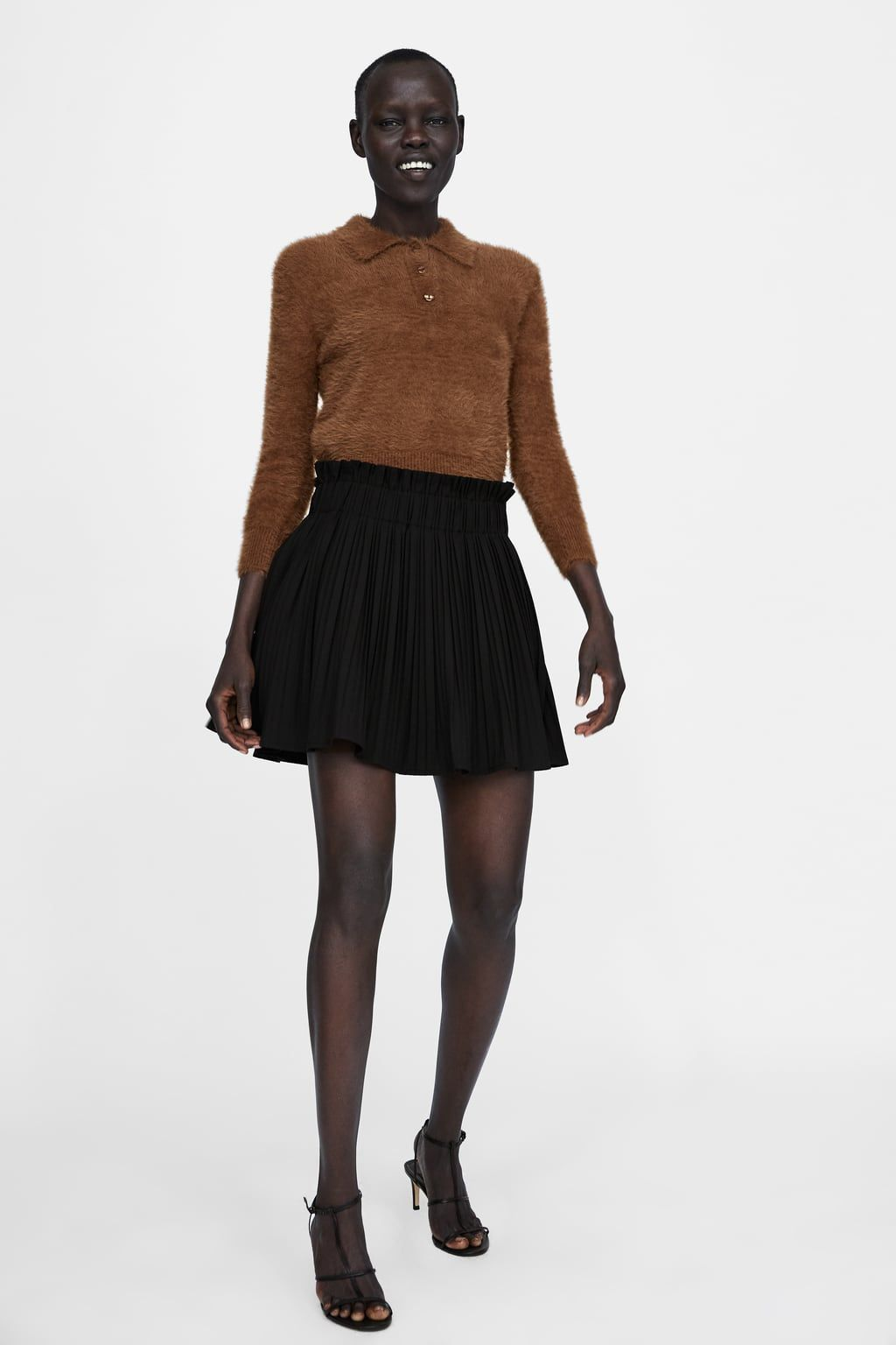 146afa73cb Image 1 of PLEATED MINI SKIRT from Zara Pleated Mini Skirt, Skater Skirt,  Mini