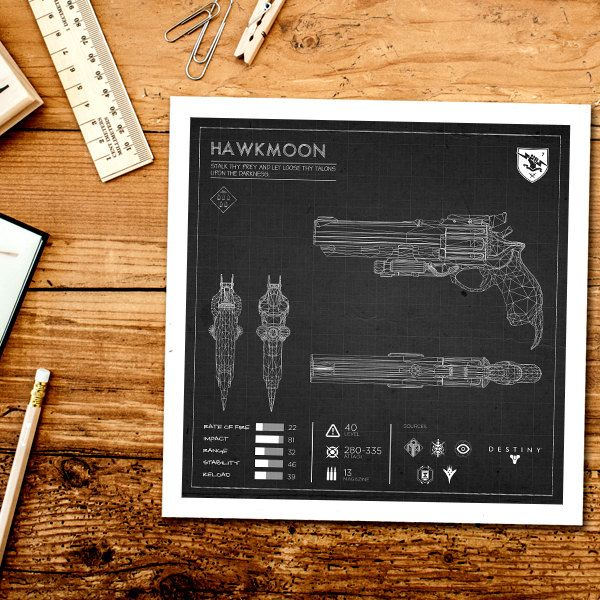 Black hawkmoon blueprint destiny exotic weapon blueprint destiny black hawkmoon blueprint destiny exotic weapon blueprint destiny print exotic weapon wall print malvernweather Image collections