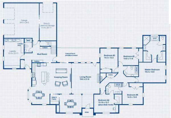 147 Modern House Plan Designs Free Download House Plans One Story 5 Bedroom House Plans French House Plans