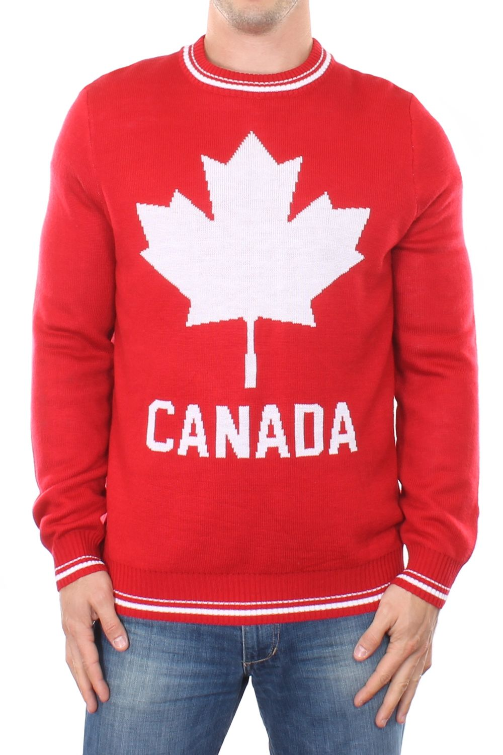 Men's Canada Sweater | Red sweaters, Middle and Leaves
