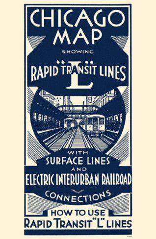 Chicago Vintage Transit Poster