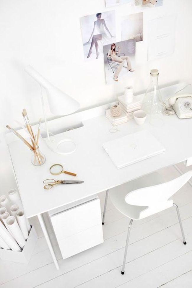 Clean, crisp home office