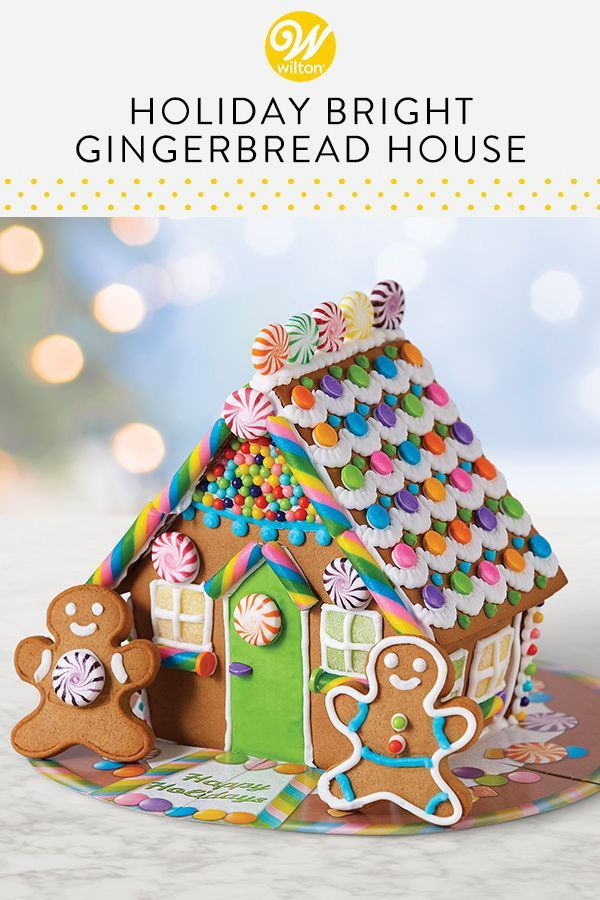 Holiday Bright Gingerbread House #1 #gingerbreadhouseideas