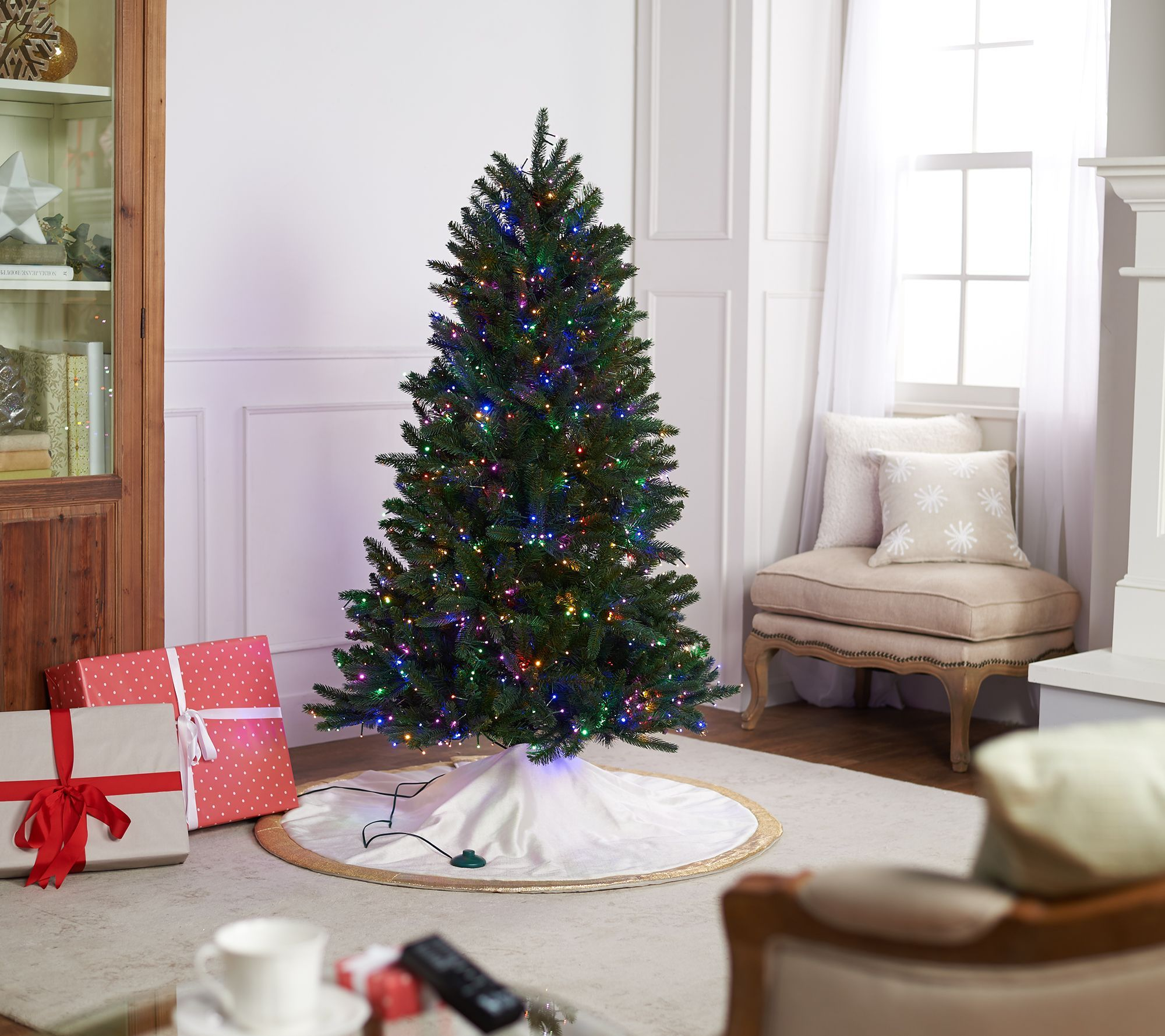 Qvc Santas Best Starry Light Christmas Tree Multiple Sizes In