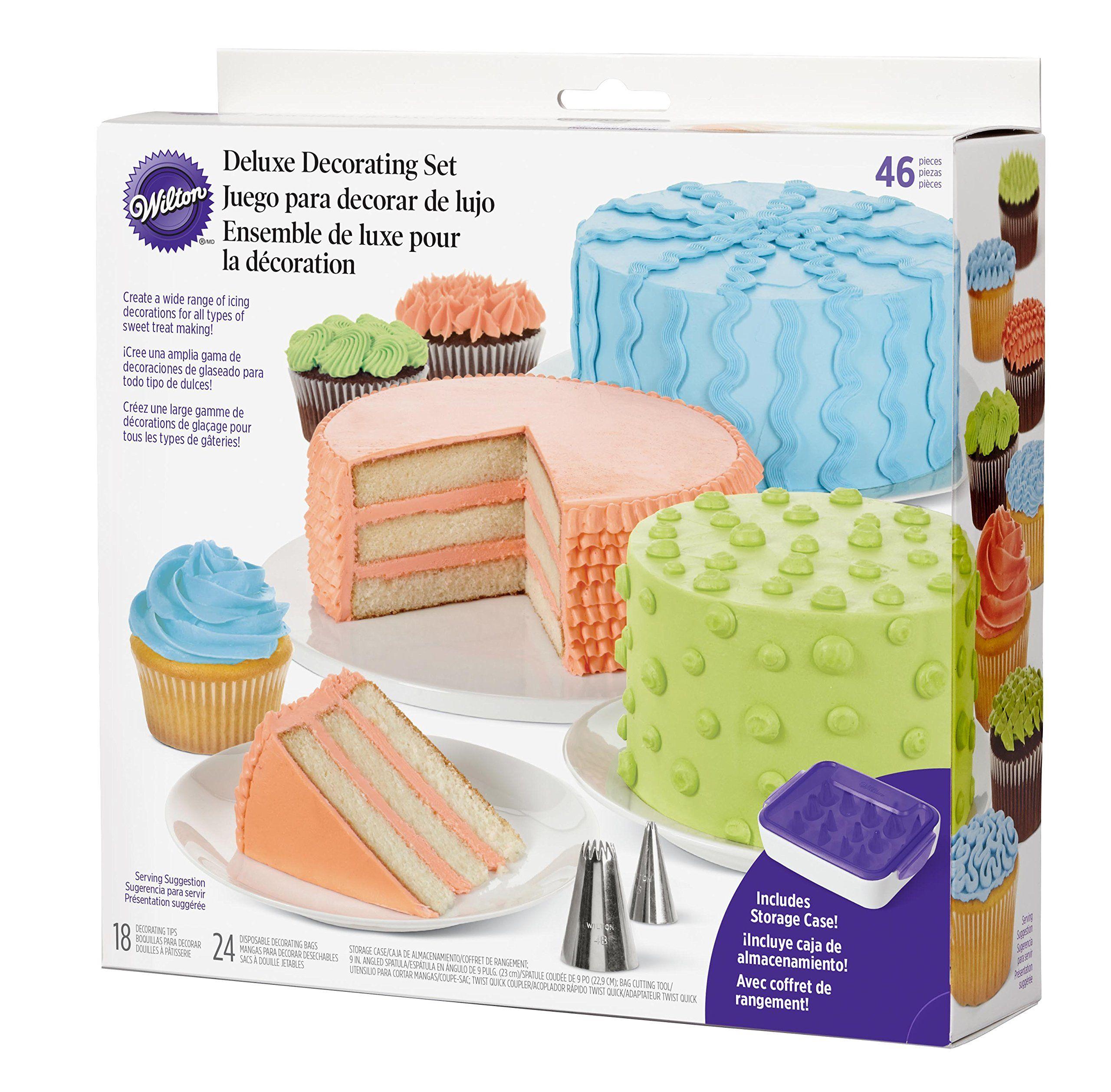 Wilton 21041368 46piece deluxe cake decorating set