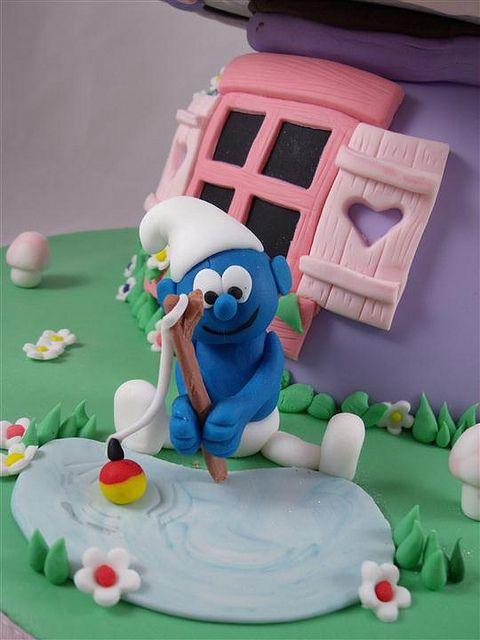 fishing smurf by cake by kim, via Flickr