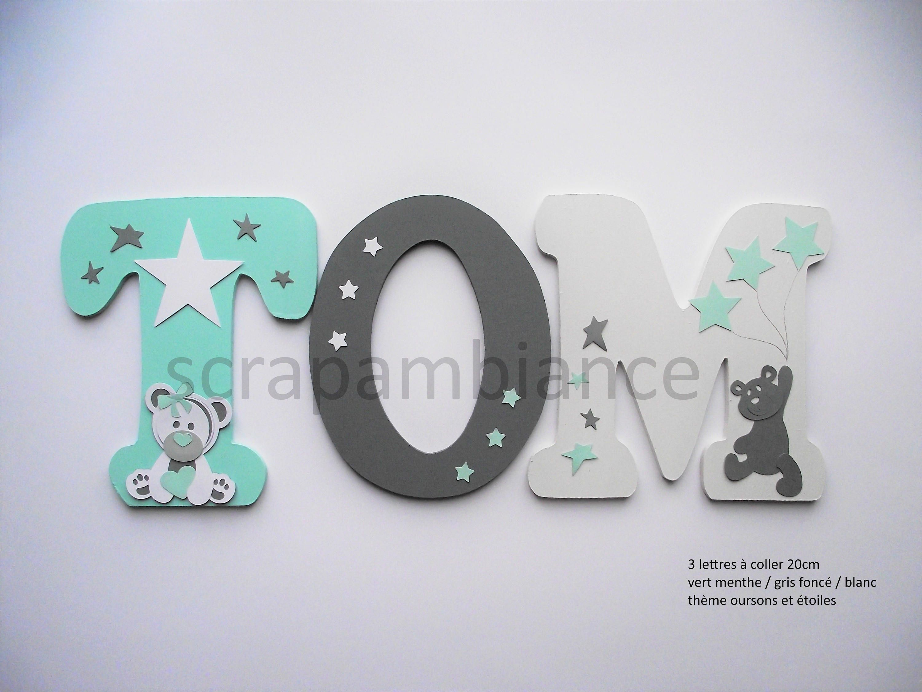 Wood letter name / child and baby room decoration / wooden name