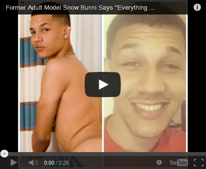 Former Flava Works of Miami model Snow Bunni posts video of himself days after his AIDS diagnosis