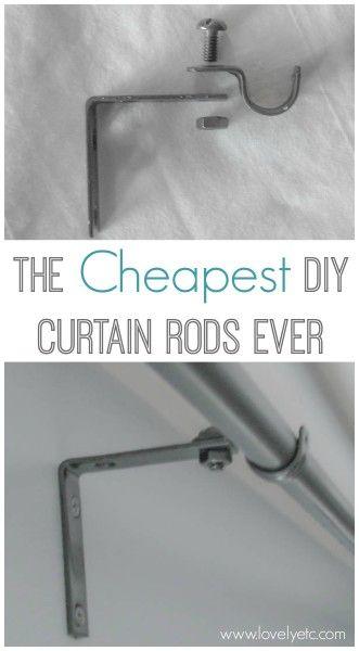 The Cheapest Diy Curtain Rods Ever Diy Curtain Rods Diy