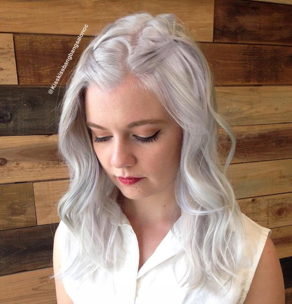 Darn Cool Medium Length Hairstyles For Thin Hair Hairstyles - Silver hair styles