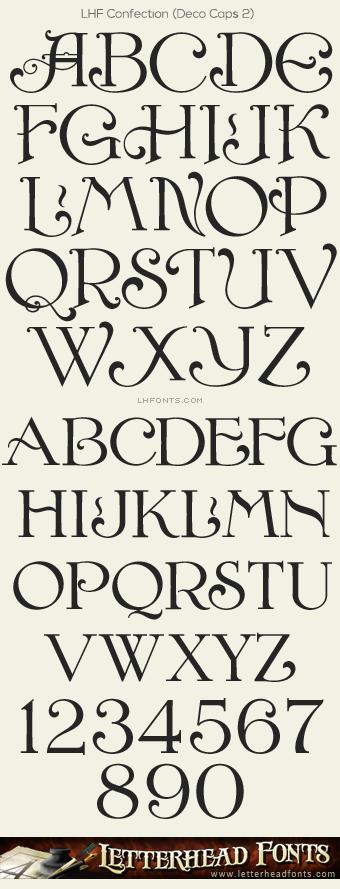 Letterhead Fonts LHF Confection Font Set Decorative