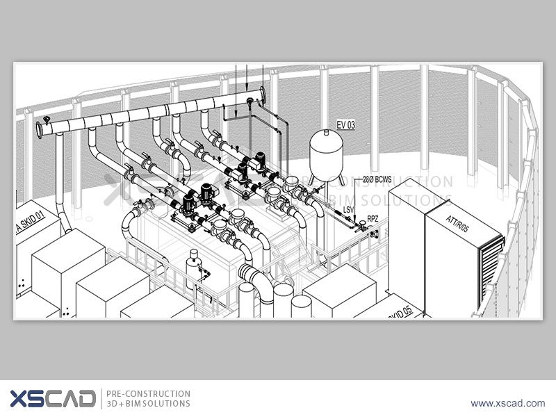 Service Highlight - MEP Design Service XS CAD provides