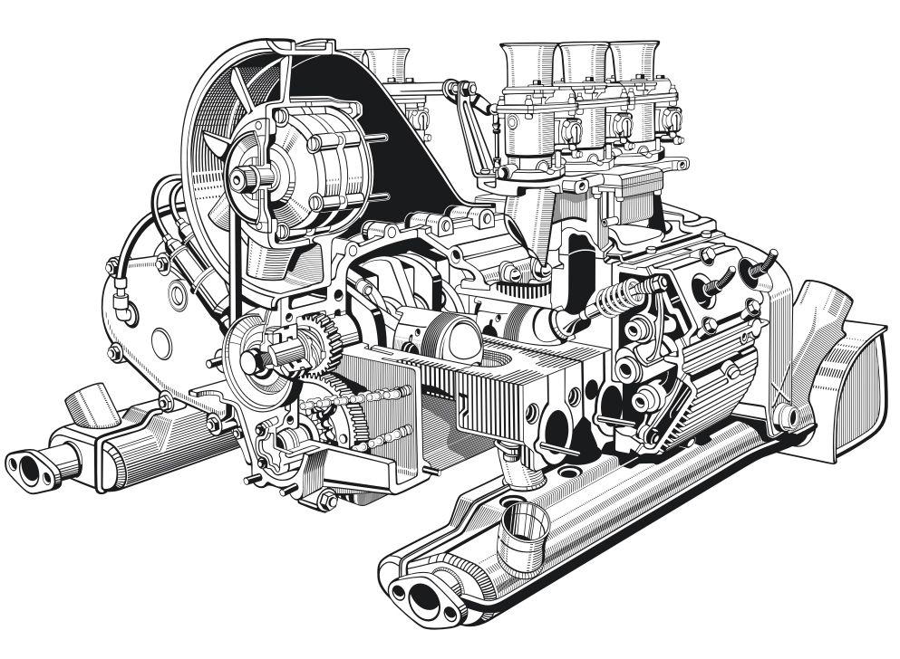 Boxer Engine Cutaway Porsche 911 Engine Porsche