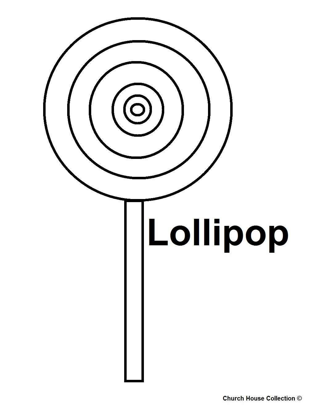 lollipop coloring pages Happy