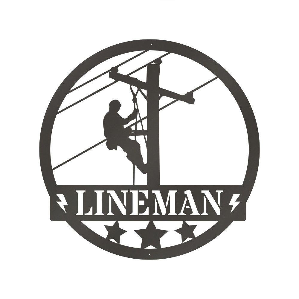 Construction Lineman Sign, Sign For Welder, Welder Sign, Personalize Sign, Custom Metal Sign Personalized Gift For Dad Father's Day