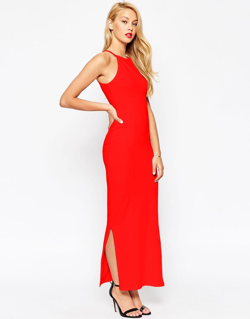 cb6689ccad5 ASOS Maxi Dress with 90s High Neck