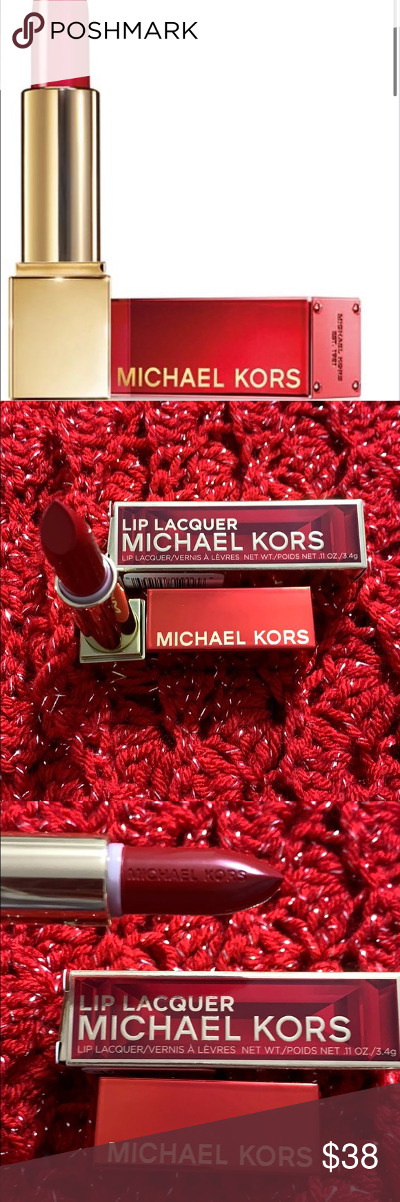 Michael Kors Ruby Red Lipstick NIB Michael Kors beautiful lipstick. It's irres… – Makeup with red lipstick
