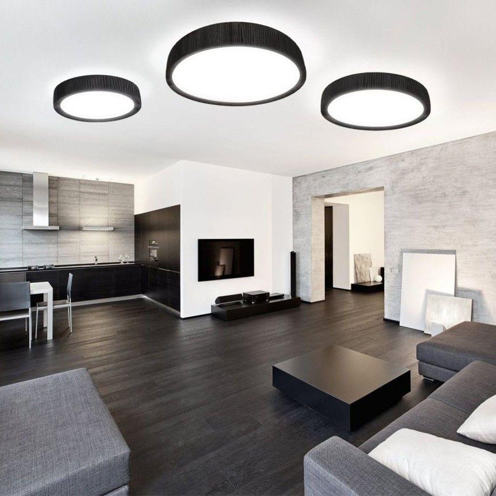 Handro Led Deckenleuchte Ø 100cm Schwarz Wohnzimmer Modern Inneneinrichtung Wohnideen Wohnzimmer