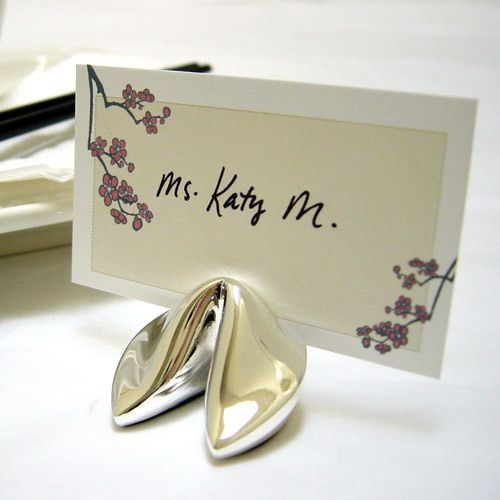 fortune cookie place card holders a perfect detail it is a popular chinese tradition