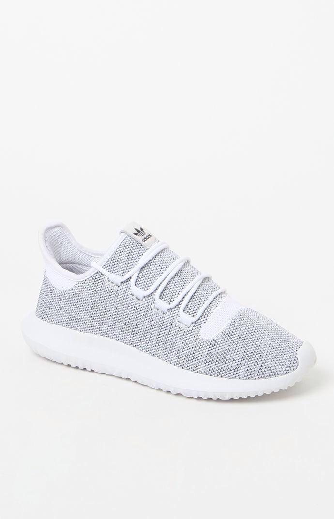 wholesale dealer 9b5d6 87521 Hooked on Tubular Shadow Knit White & Black Shoes that I ...