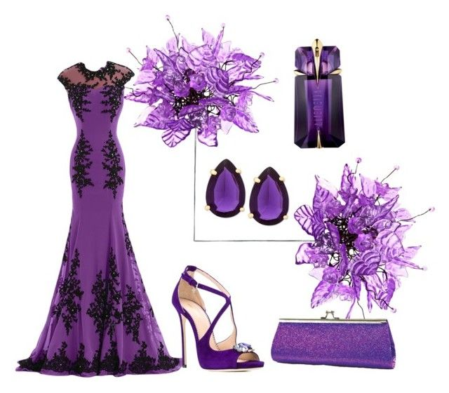 """Dreaming Purple"" by whiteflower7 ❤ liked on Polyvore featuring Universal Lighting and Decor, Dsquared2, T Tahari and Thierry Mugler"