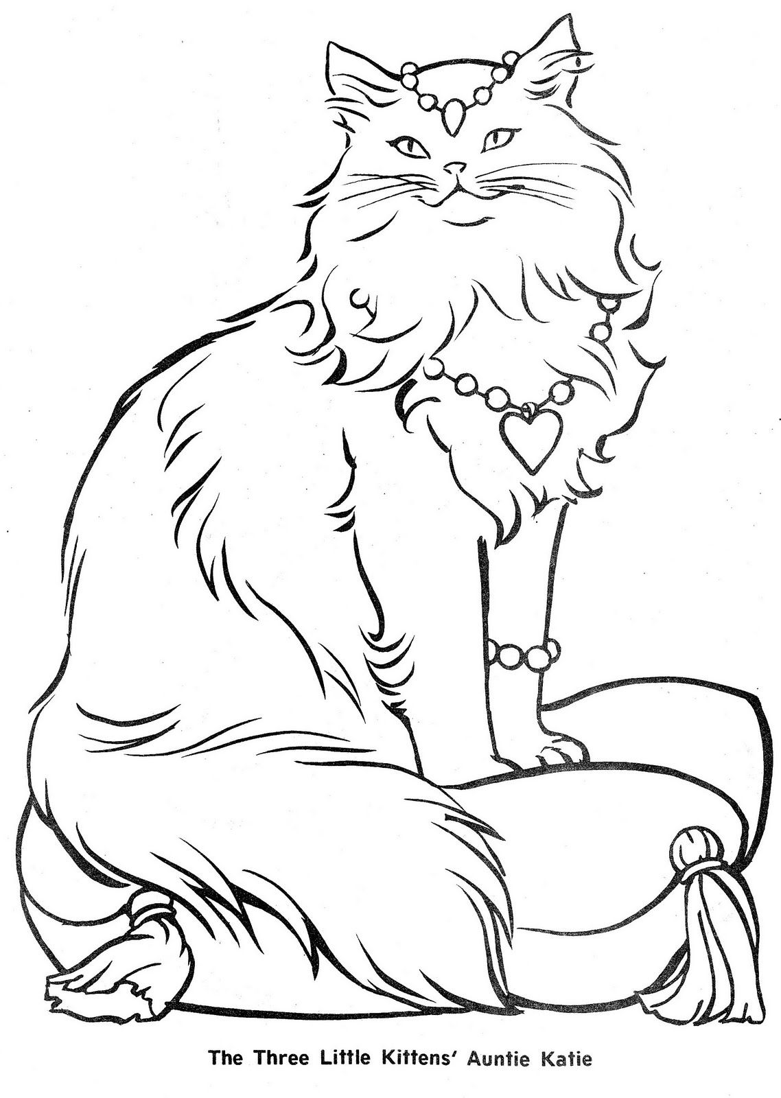 The Three Little Kittens With Images Cat Coloring Page Kitten