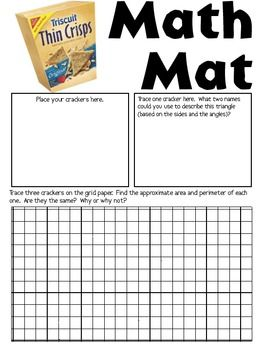 Math Mat Review Activity Triscuit Thin Crisps Crackers Math Mats Math Review Activities