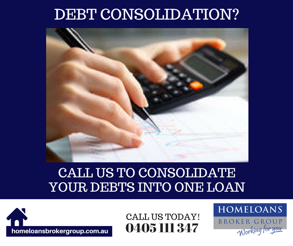 consolidating your debt into one loan